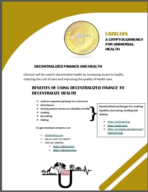 UBRICA Decentralized Finance